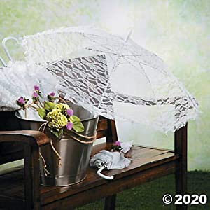 White Lace Parasol Umbrella – Wedding Accessories great for bridesmaids and flower girls – Photo Prop