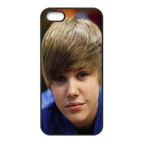 Justin Bieber Look Person Singer Celebrity coque iPhone 5 5S cellulaire cas coque de téléphone cas téléphone cellulaire noir couvercle EOKXLLNCD25019