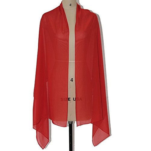 Lanbaodress Wedding Jacket Wraps Bolero Chiffon Women Cap Wrap Shrug For Evening Dresses Red