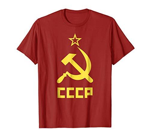 Communist Costume USSR CCCP Hammer & Sickle Red T-Shirt