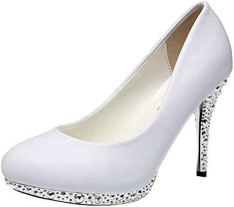 getmorebeauty زنان خاموش و سفید زرق و برق لباس عروسی کفش پاشنه بلند