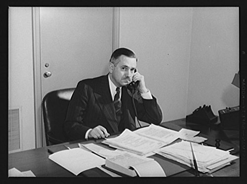 1940 Photo A.J. Browning, deputy director, Division of Purchases, Office of Production Management (OPM)