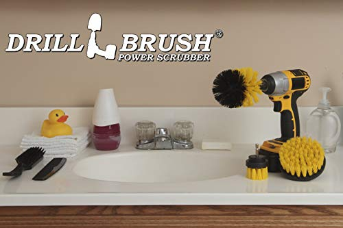 Drill Brush Attachment - Bathroom Surfaces Tub, Shower, Tile and Grout All Purpose Power Scrubber Cleaning Kit –Grout Drill Brush Set – Drill Brushes by Drill Brush Power Scrubber by Useful Products