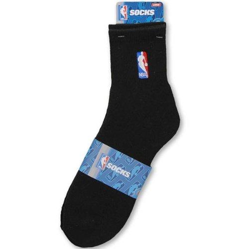 Basketball Team Socks (NBA Logoman Quarter Length Sock - Black - Black Large)