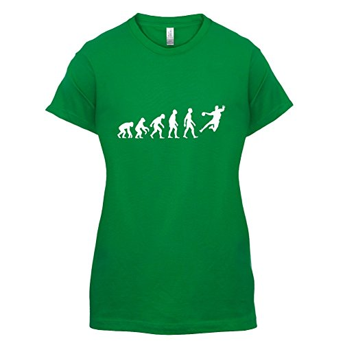Evolution Of Man Handball - Femme T-Shirt - Vert - L
