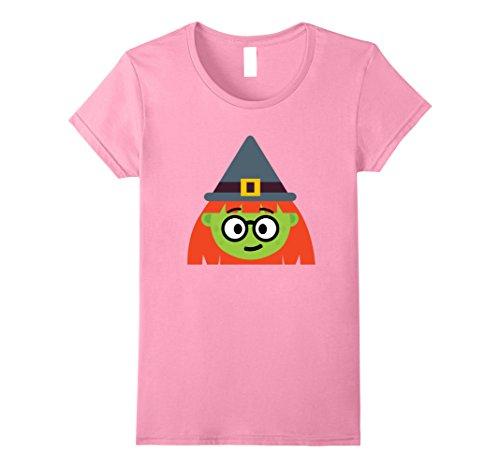 Womens Witch Emoji T-Shirt Nerd Geek Halloween Costume Gift Small (Nerd Costume For Halloween)
