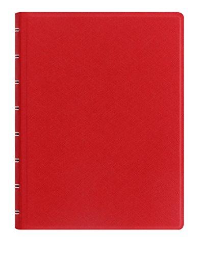 Filofax A5 Refillable Notebook Saffiano Poppy