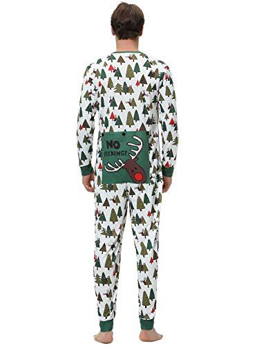 cotone Neonato lunga Set Bianco Girl Pigiama manica Pigiameria in Famiglia Aibrou Sleepwear uomo Boy Natale Girocollo xqX7F