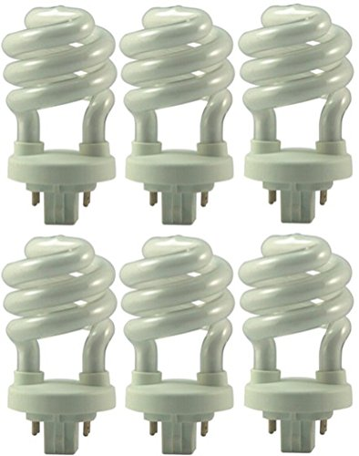 Eiko 05251 - SP1327-4P T4 Warm White Color 4 Pin Base Spiral Compact Fluorescent Light Bulb - Pack of 6