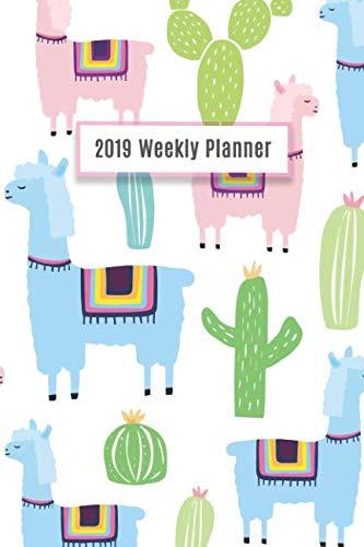 2019 Weekly Planner: Llama Calendar, 14 Months Calendar, Daily Weekly Monthly Planner, Organizer, Family Planning ()