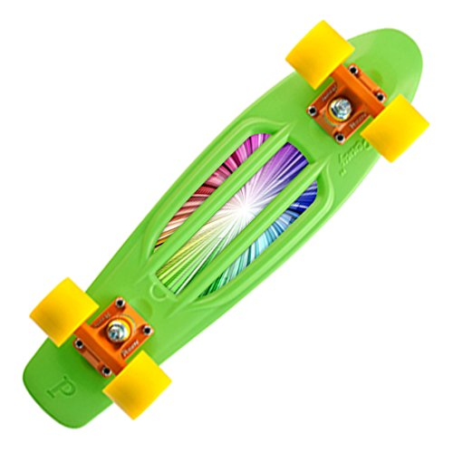 """Mightyskins Protective Vinyl Skin Decal Cover for Penny Board Original 22"""" Skateboard Cover wrap sticker skins Rainbow Explosion"""