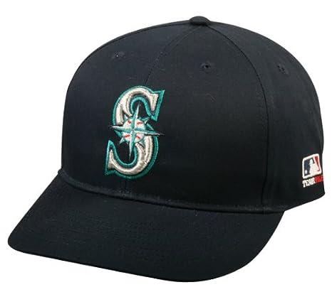 afe66c01a7c Amazon.com   Adult FLAT BRIM Seattle Mariners Home Navy Blue Hat Cap ...