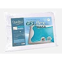 Travesseiro Gelflex, Duoflex, 100% Poliamida e 100% Algodão, Branco, 50cmx70cm
