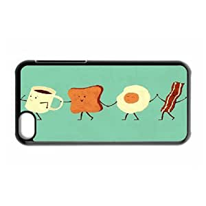 IPhone 5C Cases Let's all go and Have Breakfast, Art Cases Kweet, {Black}