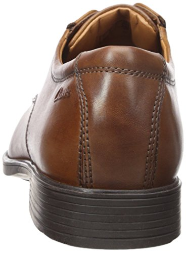 Clarks Tilden Walk Herren Derby Schnürhalbschuhe Dark Tan Leather