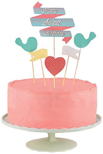 Groovy Doiy 7 Cake Toppers Card Sweet One Size Amazon Co Uk Kitchen Personalised Birthday Cards Xaembasilily Jamesorg