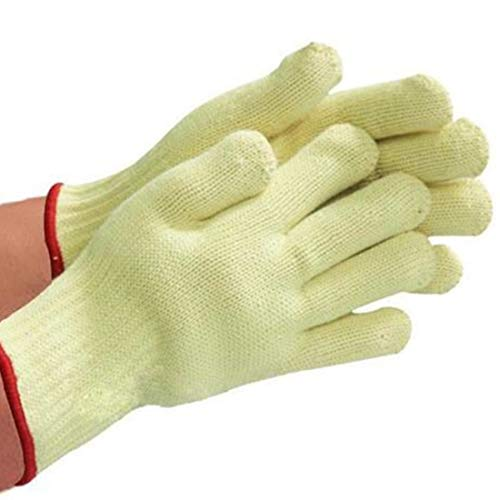 RABILTY Protective Gloves High Temperature 500 Degrees BBQ Flame Retardant Non-Slip Multifunctional Barbecue Insulation Gloves Microwave Oven (Color : Yellow, Size : 26cm)