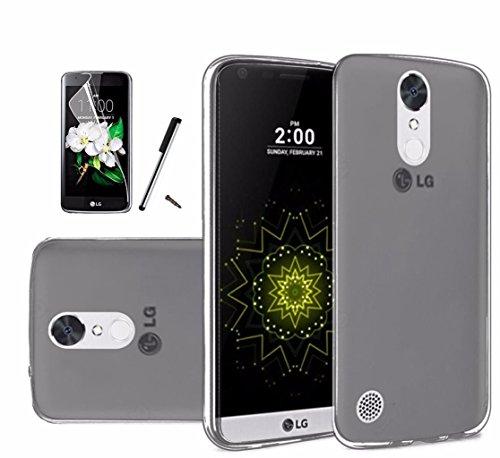 For LG K20 Plus Case / LG K20 V Case / LG K20V Case / LG Harmony Case / LG Grace Case L59BL V5501 Soft Plastic TPU Gel Rubber Skin Candy Phone Cover (Smoke)