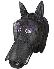 PFIFF 101013 Flygmask ansiktsmask med motiv för hästar, flygskydd