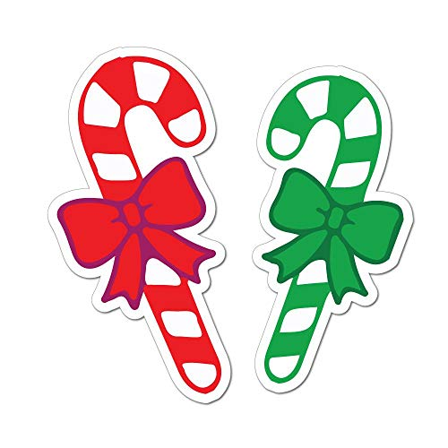 Red and Green Candy Canes Car Sticker Decal Christmas Decoration Cute Sweet Food