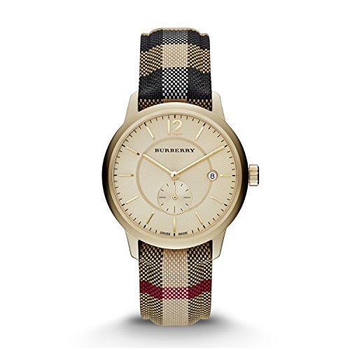 Burberry Gold Dial Stainless Steel Textile Multi Quartz Ladies Watch - Gold Burberry