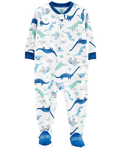 Carter's Baby Boy's 12M-5T One Piece Fleece Pajamas, Cool Dinosaurs, 12 Months