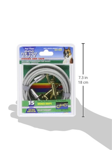 Image of Four Paws Tie-Out Cable for Large Dogs, 15 ft