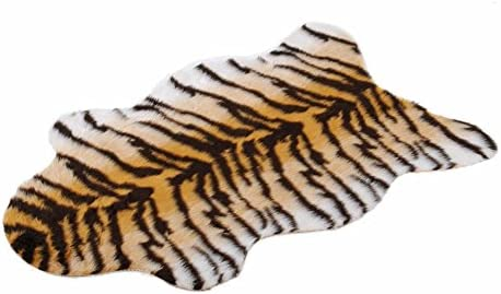 Piel sintética de la alfombra de piel de tigre de pelo de