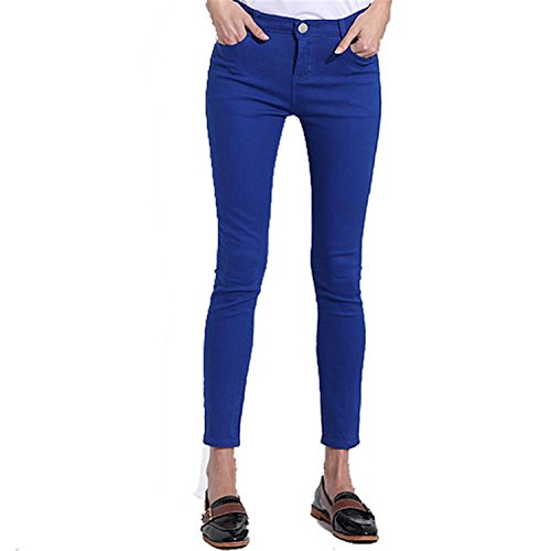 SDay Women's Candy Pants Pencil Trousers 2018 Spring Fall Khaki Stretch Pants For Women Slim Ladies Jean Trousers Female