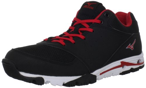 Mizuno Men's Mizuno Compete Turf Shoe,Black/Red,9.5 M US (Cross Mens Training Mizuno Shoes)