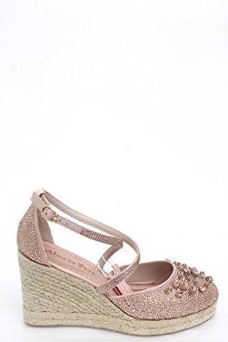 Pena Sandalo En Alma satin Rosa Donna V18355 HqgnUw