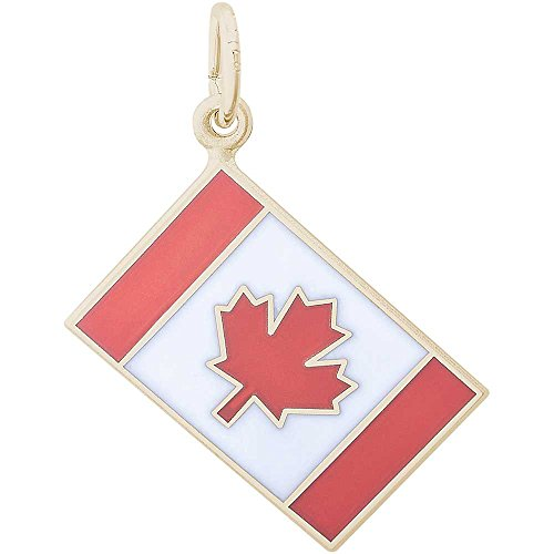 adian Flag Charm, Gold Plated Silver (Flag Charm Gold Plated)