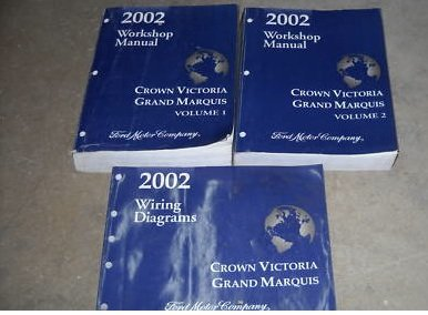 2002 Crown Victoria Grand Marquis Service Manual Set (2 volume set,and the wiring diagrams manual)