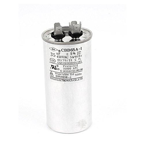 Uxcell Air Conditioner Polypropylene Capacitor Cbb65 450V AC 35Uf 50/60Hz