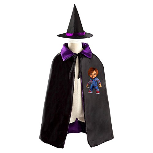 Cult of Chucky Children Costumes for Halloween Sorcerer/Witch Costume with Hat and Cloak (Bride Of Chucky Halloween Costume For Kids)
