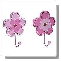 NoJo Wall Hooks, Flower, 2 Count