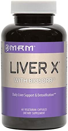 MRM - Liver X with BioSorb, Daily Liver Support & Detoxification, Ultimate Hangover Helper (60 Vegetarian Capsules)