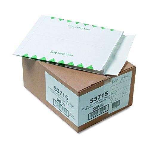 hip Lite Redi Flap Expansion Mailer, 1st Class, 10 x 13 x 1 1/2, White (Box of 100) (Lite Flap)