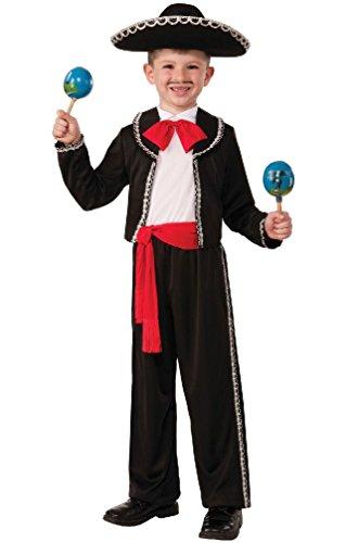 [8eighteen Mexican Mariachi Dancer Child Costume (L)] (Mens Mariachi Halloween Costume)