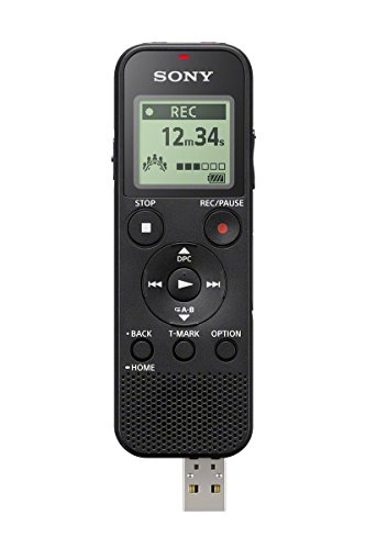 Sony Icdpx370 Mono Digital Voice Recorder With Built In Usb  Black