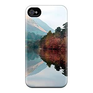 Premium ATsypST9155MWYTc Case With Scratch-resistant/ Lake Reflecion Case Cover For Iphone 4/4s