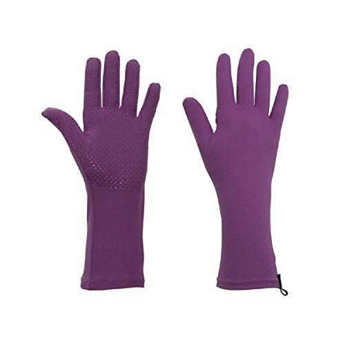 Small Iris Garden - Foxgloves Grip Gloves (Iris Purple, Small)