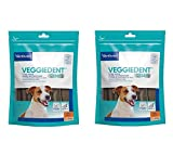 Virbac C.E.T. VEGGIEDENT Tartar Control Chews for Dogs, Small 30 ea by Virbac