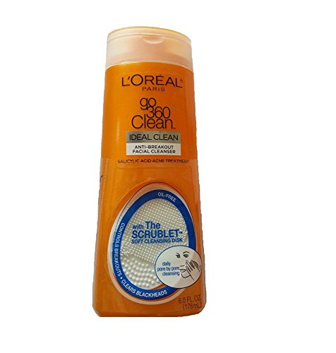 L'Oreal Paris Go 360 Clean, Anti-Breakout Facial Cleanser for Acne Prone Skin 6 Fl. (Acne Prone Skin Formula)