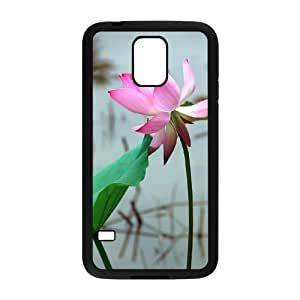 Beautiful lotus Custom Cover Case with Hard Shell Protection for SamSung Galaxy S5 I9600 Case lxa#892339