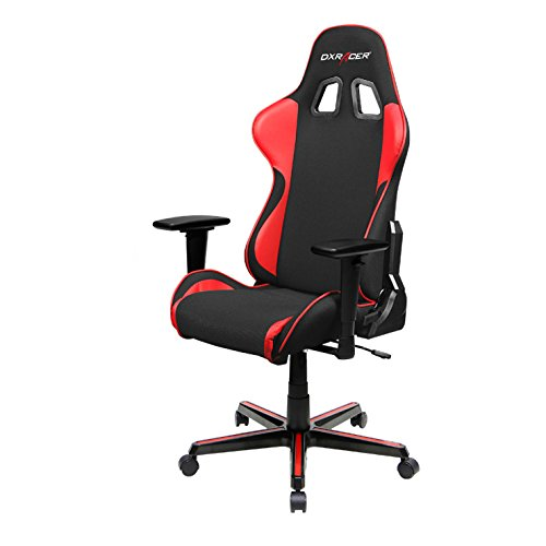 (DXRacer FH11/NR Black and Red Formula Series Racing Bucket Seat Office Chair Gaming Ergonomic with Lumbar Support)