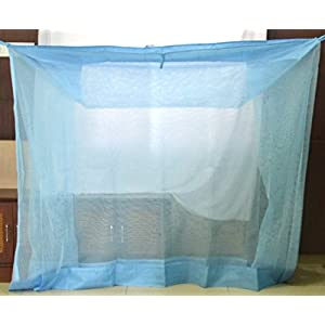 Iblay 3×6.5 FT Blue Mosquito NET for Single Bed Nylon Material – Mosquito Net for Baby | Bedroom | Family |