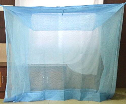 Iblay 3x6.5 FT Blue Mosquito NET for Single Bed Nylon Material - Mosquito Net for Baby | Bedroom | Family | 2021 August PRODUCT TYPE : Nylon fabric which ensures super quality, Polycotton material BORDER at bottom for long life COMFORTABLE SLEEP - STYLISH MOSQUITO NET RESTRICTS flies and mosquitoes from entering the net EASY TO CARE FOR Launder in the cold water and quick drying