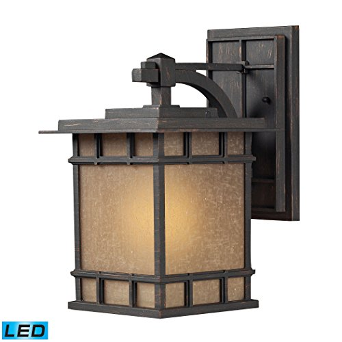 Alumbrada Collection Newlton 1 Light LED Outdoor Sconce In Weathered Charcoal ()