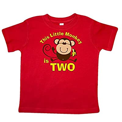 Inktastic Little Boys' Little Monkey 2nd Birthday Boy Toddler T-Shirt